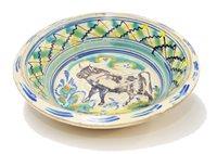 Lot 110 - Spanish oval bowl.