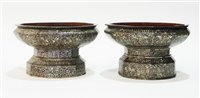 Lot 34 - Near pair of Thai offering bowls.