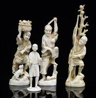 Lot 49 - Four Japanese figures.