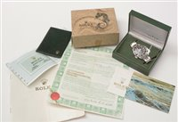 Lot 467-Rolex Oyster perpetual submariner, boxed.