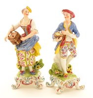Lot 70 - Pair of Samson porcelain figures.