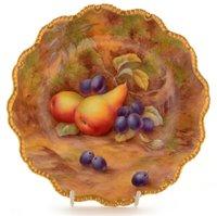 Lot 94 - A Royal Worcester dessert plate.