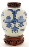 Lot 21 - Chinese blue and white jar.