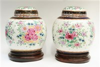 Lot 114 - Pair of ginger jars.