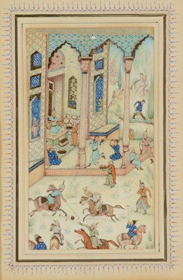Lot 677 - Iranian School, late 19th/early 20th Century - Gouache on ivory