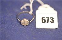 Lot 673 - Diamond cluster ring