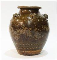Lot 22 - Chinese stoneware urn.