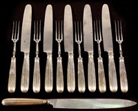 Lot 387-Knives and forks