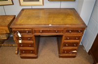 Lot 1157 - Mahogany pedestal desk