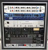 Lot 76-Outboard rack units, in flight case, including:...
