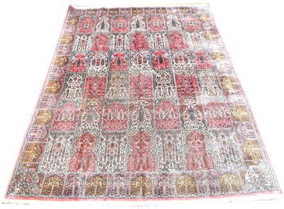 Lot 692 - Indo-Persian silk carpet