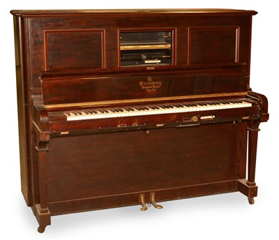 Lot 65 - Steinway Pianola and rolls