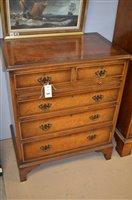 Lot 1045 - Small walnut chest