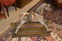 Lot 1093 - Pony skin rocking horse