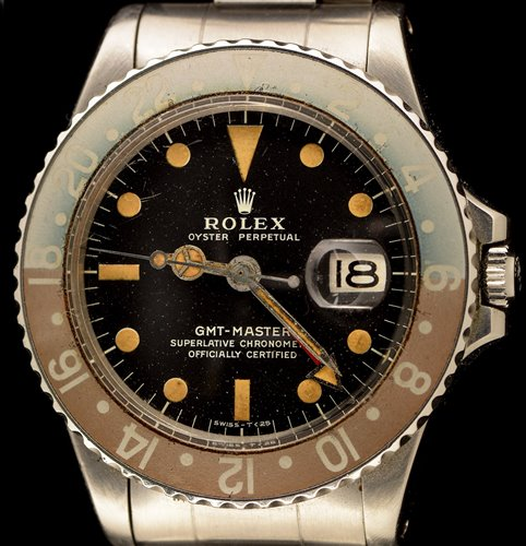469 - Rolex GMT Master: a gentleman's stainless steel bracelet watch.