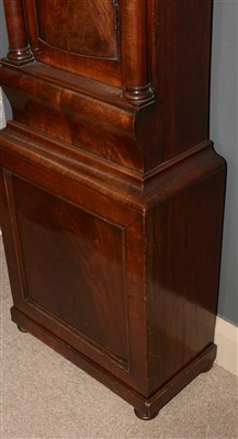 Lot 744-William Dobbie, Falkirk: a Scottish mahogany longcase clock.