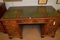 Lot 1159 - Mahogany Pedestal desk