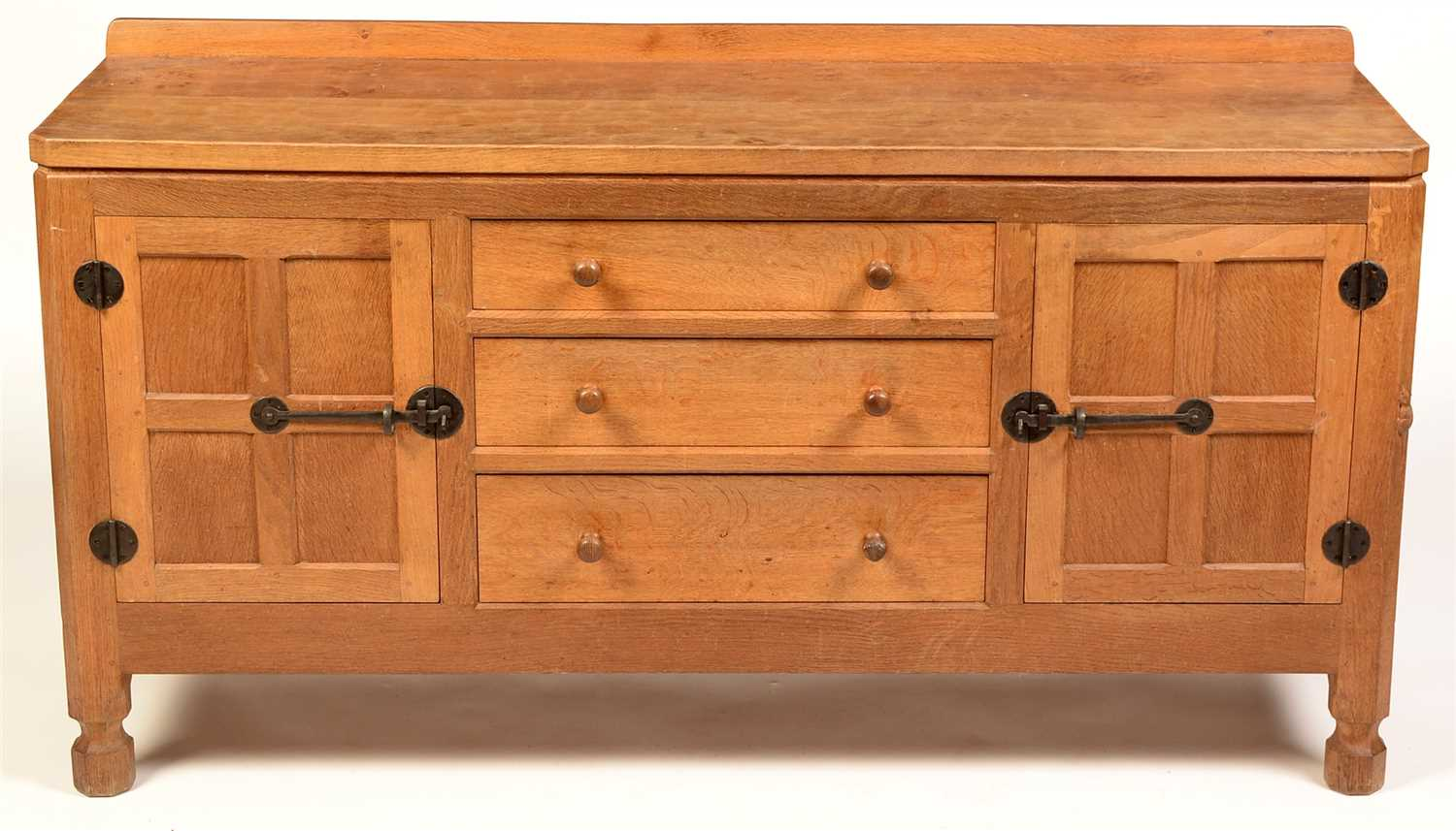 "857 - Robert ""Mouseman"" Thompson, Kilburn: an oak sideboard."