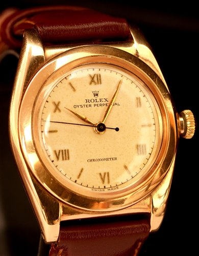 Lot 1149-Rolex Oyster Perpetual 14k cased wristwatch.
