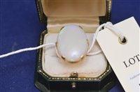Lot 713 - Opal ring