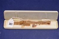 Lot 361-Two 9ct gold bracelets