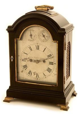 Lot 749 - George Kershaw, London, A George III mahogany bracket clock