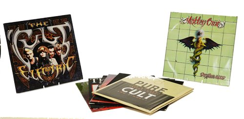 Lot 377-Records by The Cult and Motley Crue
