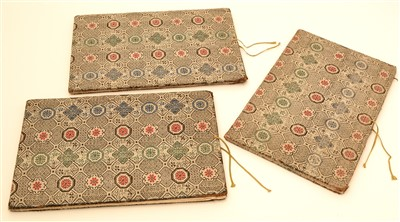 Lot 32 - Three 19th Century Chinese albums of pith paper watercolour and gouache paintings.
