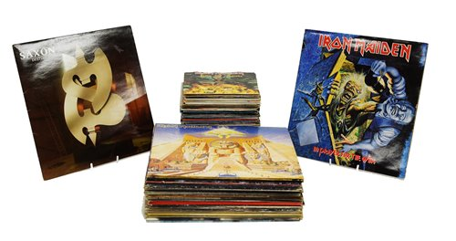Lot 366-Metal and heavy rock records.