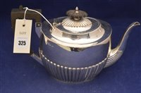Lot 325-Silver tea pot