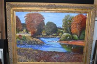 Lot 599 - W* N* 'Ginty' Bewick oil painting