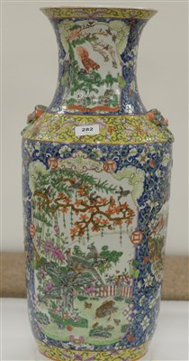 Lot 11-A mid 19th Century Chinese Famille Rose vase.