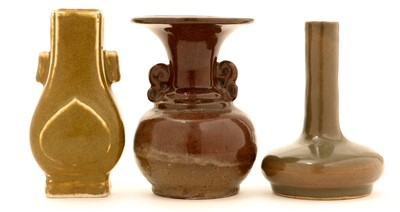 Lot 15-Three small Chinese vases.