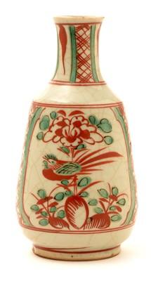 Lot 19-A 19th Century Chinese glazed stoneware small vase or wine bottle.