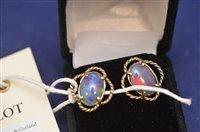 Lot 342-Opal earrings