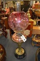 Lot 986 - Oil lamp