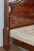 Lot 897-Large four poster bed