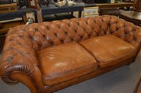 Lot 1085 - Leather sofa