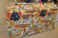Lot 807 - Star Wars wall hanging and other items