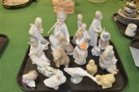 Lot 865 - Lladro and Nao figures