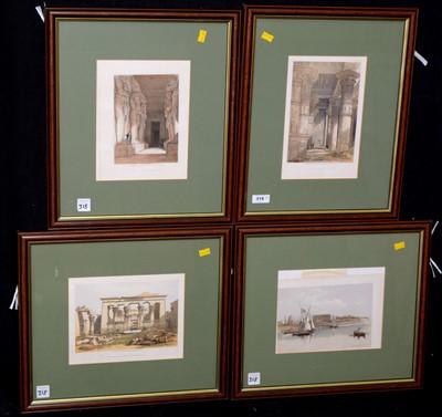 Lot 9-David Roberts prints