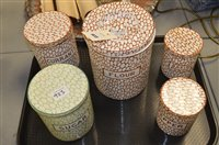 Lot 923 - Maling cobble stone storage jars