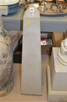 Lot 828 - Stone obelisk and stand