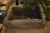 Lot 1031 - Large stone trough
