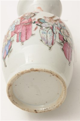 Lot 5-A late 19th Century Chinese Famille Rose vase.