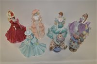 Lot 951 - Coalport and Lladro figurines