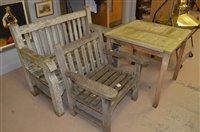 Lot 1035 - Teak garden furniture