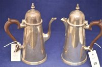 Lot 379-Silver coffee pot and hot water jug