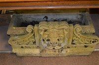 Lot 1059 - Ornate stone trough fountain