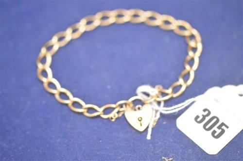 Lot 305-Gold bracelet